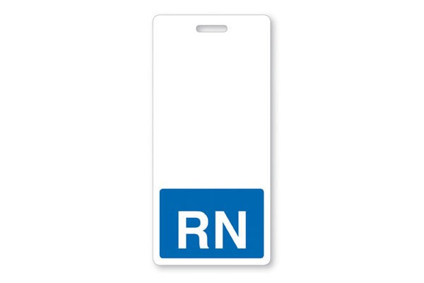"GRV-1350-2134 Vertical ""RN"" Badge Buddies, Blue (2 1/8"" X4 1/2"")"