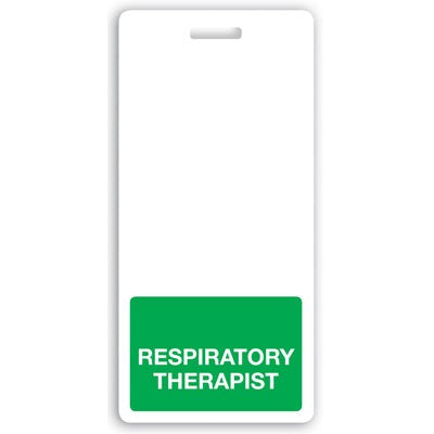 "GRV-1350-2164 Vertical ""Respiratory Therapist"" Badge Buddies, Green (2 1/8"" X4 1/2"")"