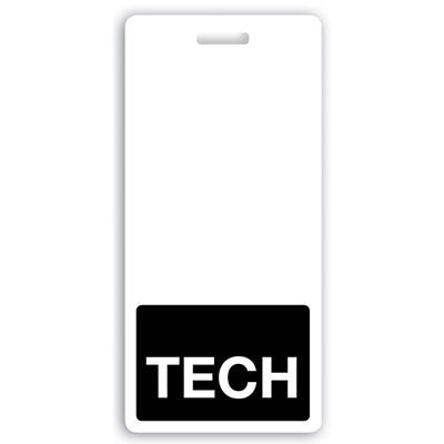 "Vertical ""TECH"" Badge Buddies Black, (2 1/8"" x 4 1/2"")"