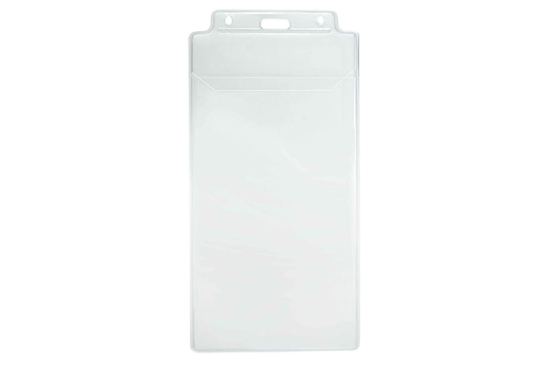"1840-1600 Clear Vinyl Vertical Holder with Tuck-In Flap, 3.75"" x 7.5"""
