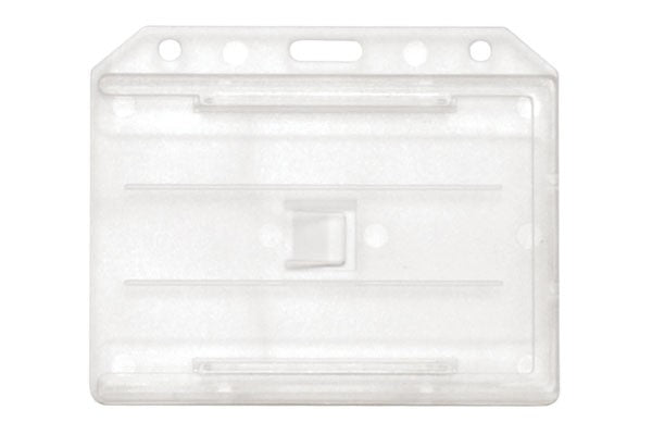 "1840-3050 Clear Acetate Horizontal 2-Sided Multi-Card Holder, 3.65"" x 2.94"""