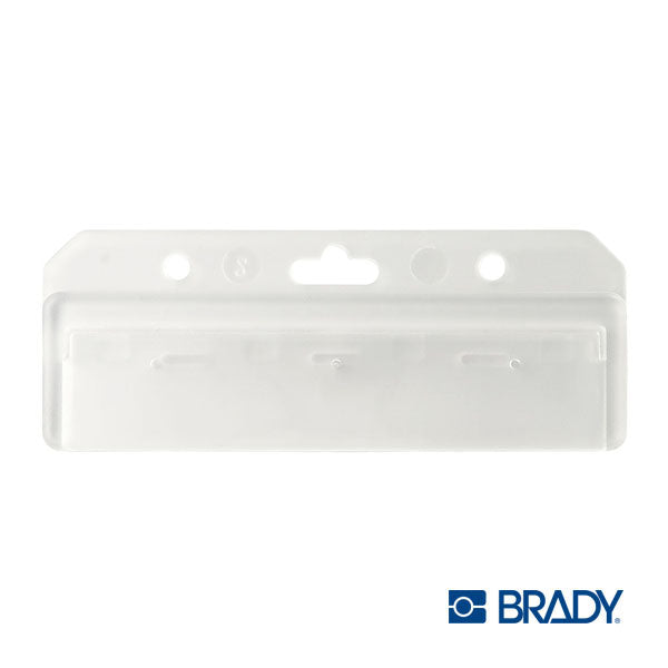 item# 1840-8000  1/2 card Badge Holder clear plastic
