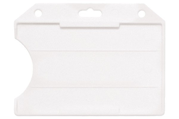 "1840-8110 Frosted Rigid Plastic Horizontal Open-Face Card Holder, 3.56"" x 2.68"""