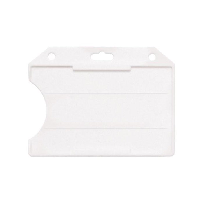 PBH-2W1, 1 Card open Face, Clear Rigid Card Holder