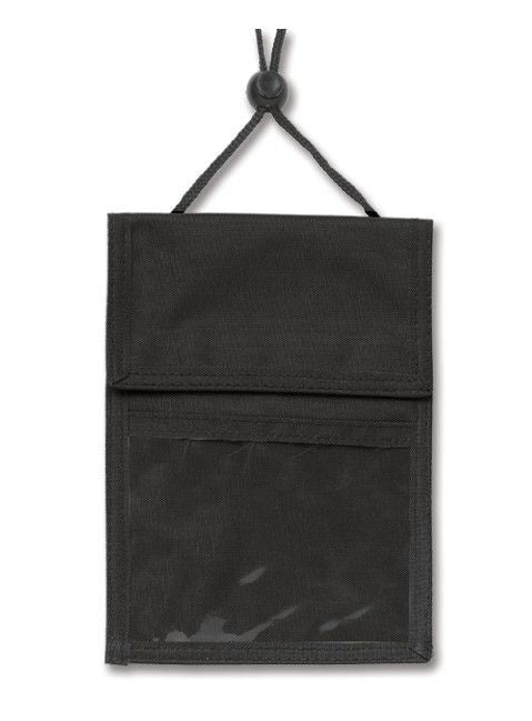 1860-2501 Black 3-Pocket Credential Wallet with Pen Compartments