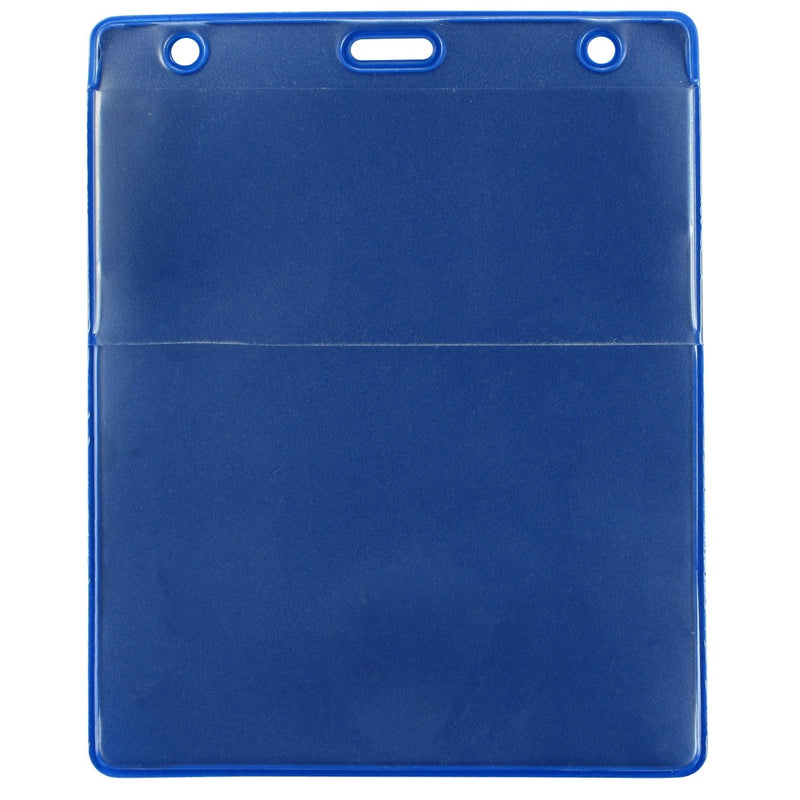 "1860-4003 Royal Blue Vinyl Vertical Credential Wallet with Slot and Chain Holes, 3"" x 4.25"""