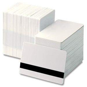 81751 Blank white Mag Stripe pvc cards, CR80 size Box of 500