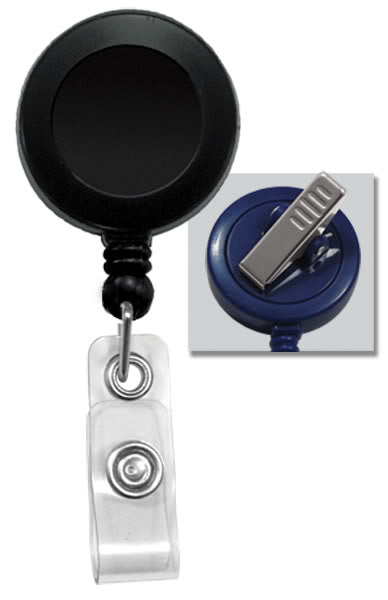 2120-7601 Black Swivel Back Badge reel & belt clip