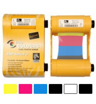 800033-848 Zebra ZXP3 Printer Ribbon 165 images YMCKOK