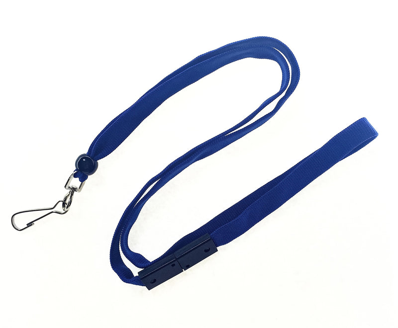 BAL-IV-SH 10mm Stock Lanyard ROYAL BLUE w/ swivel clip