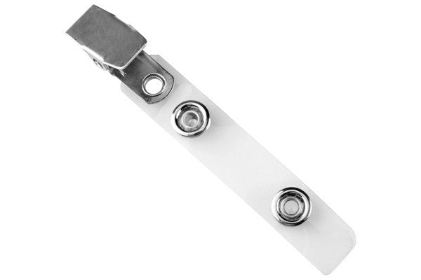 2105-2250 Clear Vinyl Strap Clip with Smooth Face NPS Clip