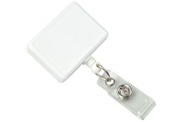 2120-3908 White Rectangle Badge Reel