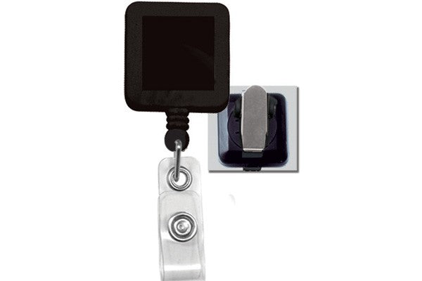 2120-5701 Black Badge Reel with Clear Vinyl Strap & Spring Clip