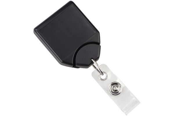 2120-7801 Black B-REEL™ Badge Reel with swivel-clip with teeth
