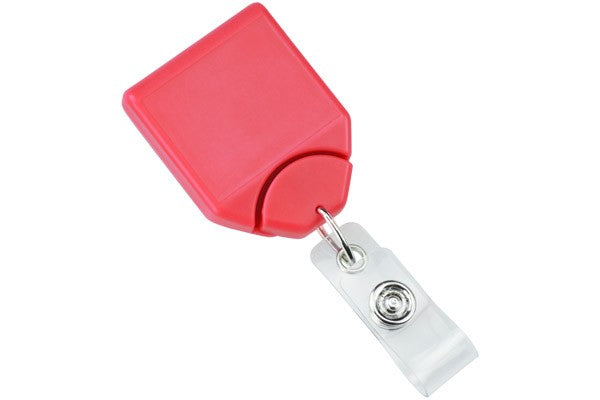 2120-7811 Watermelon B-REEL™ Badge Reel with swivel-clip with teeth