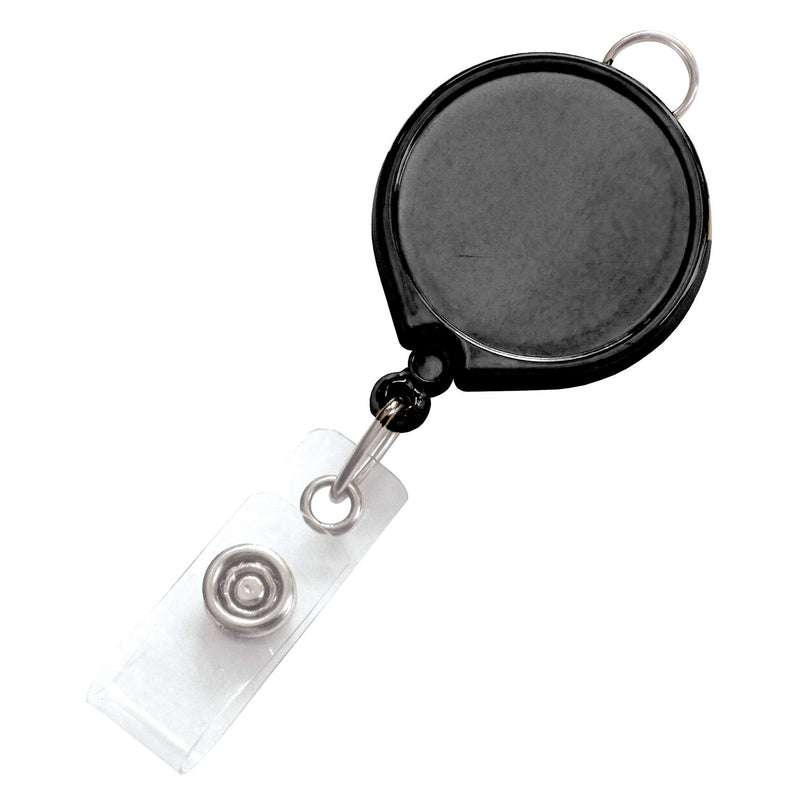 2124-3031 Black Badge Reel with Clear Vinyl Strap & Belt Clip