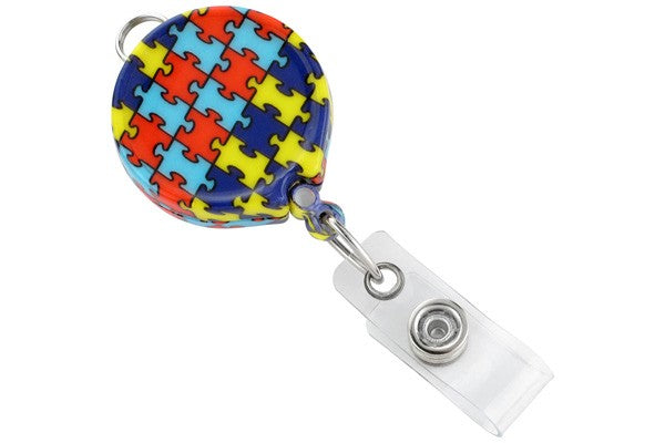 2124-3050 Autism Awareness Badge Reel