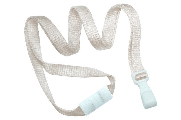 "2137-2050 Natural Bamboo 3/8"" (10 mm) Lanyard with Breakaway And ""No-Twist"" Wide Plastic Hook"
