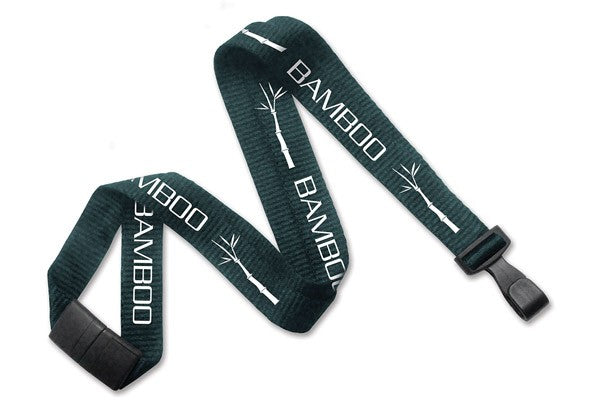 "2137-2053 Forest Green Bamboo 5/8"" (16 mm) Lanyard with Breakaway And ""No-Twist"" Wide Plastic Hook"