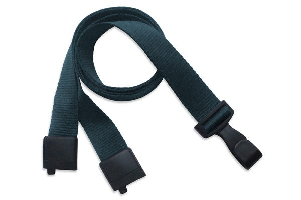 "Forest Green 5/8"" (16 mm) Lanyard with Breakaway And ""No-Twist"" Wide Plastic Hook 2137-2065"