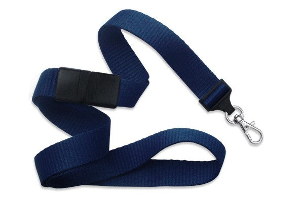 "Navy Blue 5/8"" (16 mm) Breakaway Lanyard with Trigger Snap Swivel Hook 2138-3603"