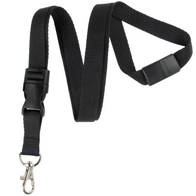 2138-3621 Black Detachable Breakaway Lanyard