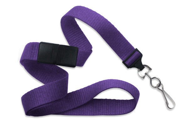 "Purple 5/8"" (16 mm) Breakaway Lanyard with Nickel-Plated Steel Swivel Hook 2138-5013"