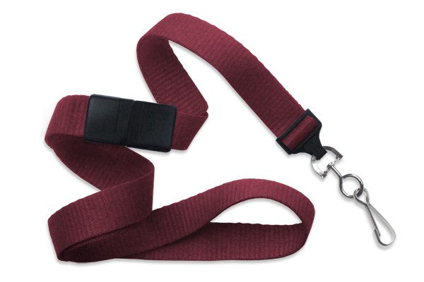 "Maroon 5/8"" (16 mm) Breakaway Lanyard with Nickel-Plated Steel Swivel Hook 2138-5035"
