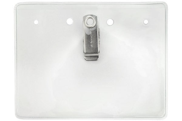 "304-BC Clear Vinyl Horizontal Badge Holder with Brady Clothing-Friendly™ Clip, 4"" x 3"""