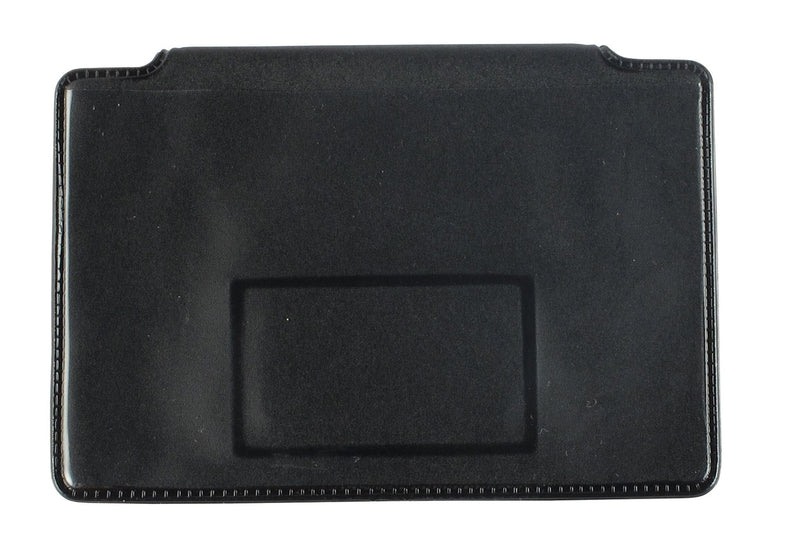 "Black Vinyl Horizontal 1-Pocket Magnetic Badge Holder, 3.5"" x 2.125"""