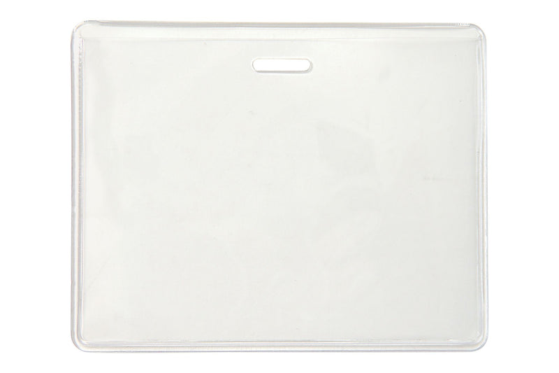 "504-CHSJ Clear Vinyl Horizontal Anti-Print Transfer Proximity Card Holder, 3.63"" x 2.5"""