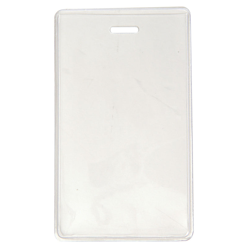 "504-NCS Clear Vinyl Vertical S-Series Proximity Card Holder, 2.3"" x 4.25"""