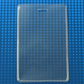 "504-ESJ Clear Vinyl Vertical S-Series Anti-Print Transfer Proximity Card Holder, 2.5"" x 3.75"""