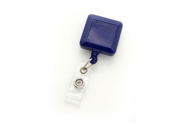 530-I-RBLU Royal Blue Square Badge Reel With Strap And Slide Clip