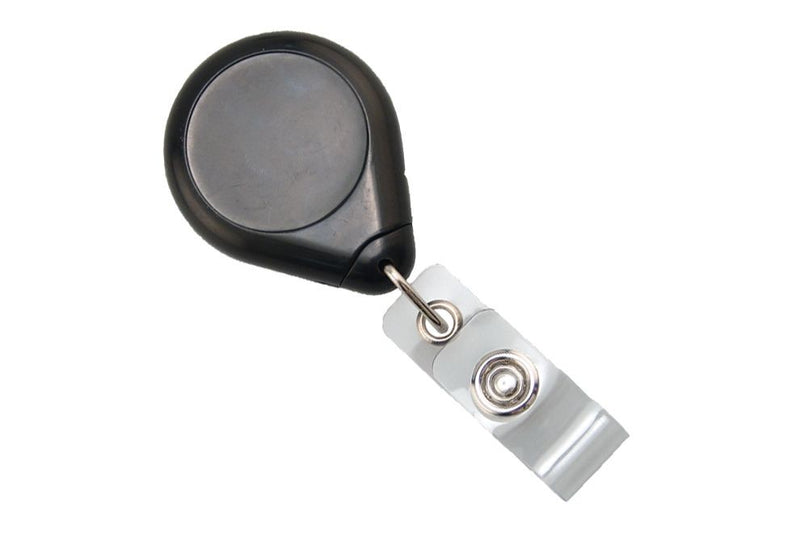 609-I-BLK Black Premium Badge Reel With Strap And Swivel Clip