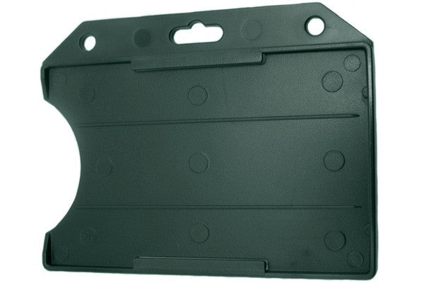 "806-T2-FRST Green Rigid Plastic Horizontal Open-Face Card Holder, 2.13"" x 3.38"""