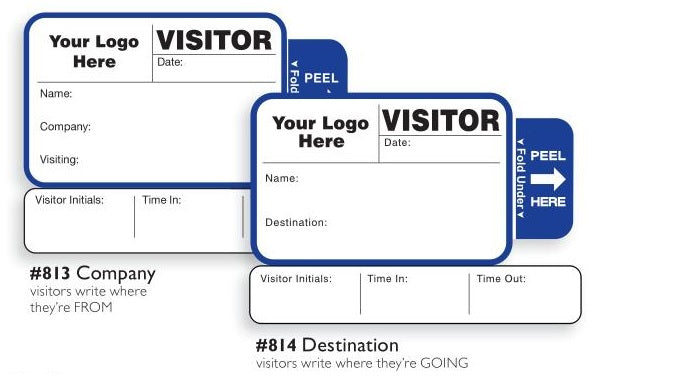 813/814 Custom Visitor Pass Registry Book Style