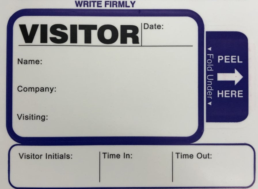 One Day Visitor Pass Registry Book- Style 815