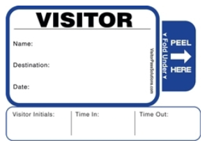 One Day Visitor Pass Registry Book- Style 816