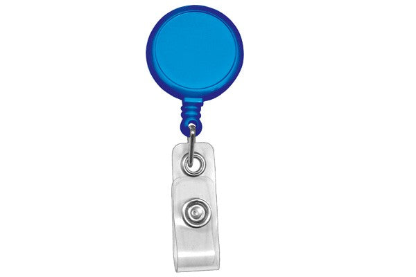 905-I-RBLU Royal Blue Round Max Label Reel With Strap And Slide Clip