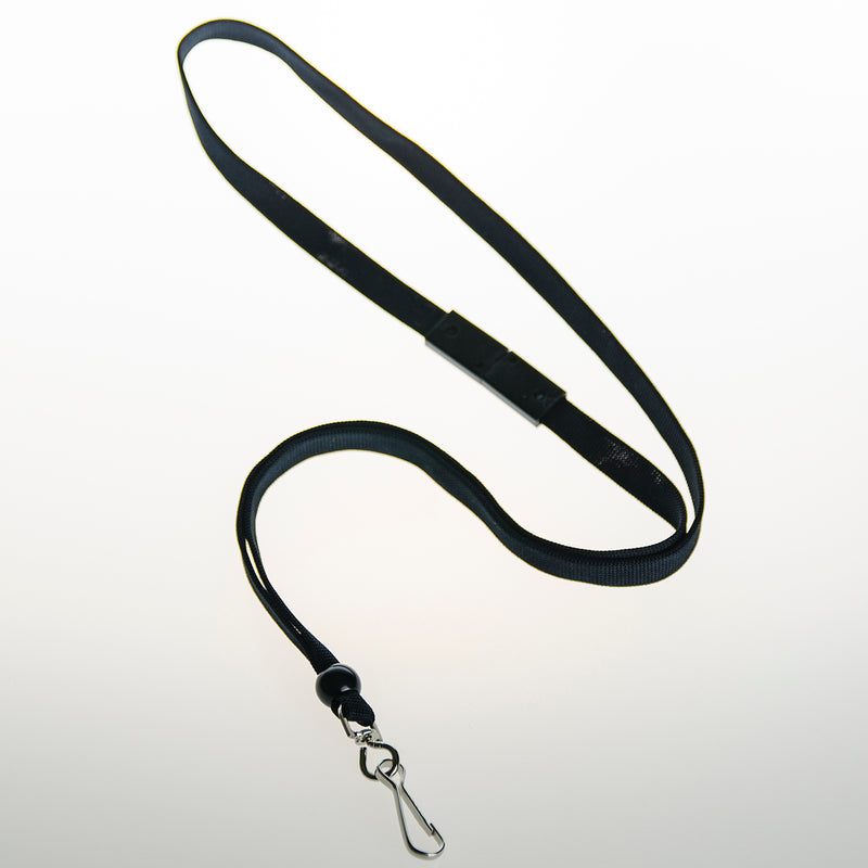BAL-IV-SH 10mm Stock Lanyard BLACK w/ swivel clip