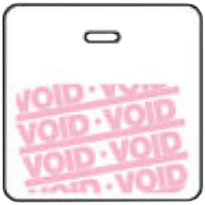 "DM 6027-FST3-CO-DV-WH FST3-CO-DV-WH Clip on Back Piece (3"" x3"") Void White Backing"