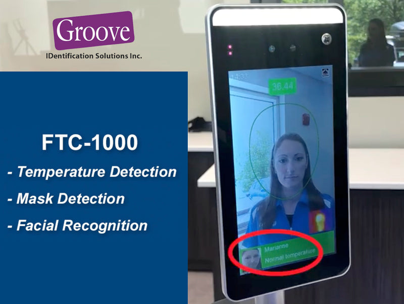 Touchless FTC1000 Fever/Temperature Screening Kiosk