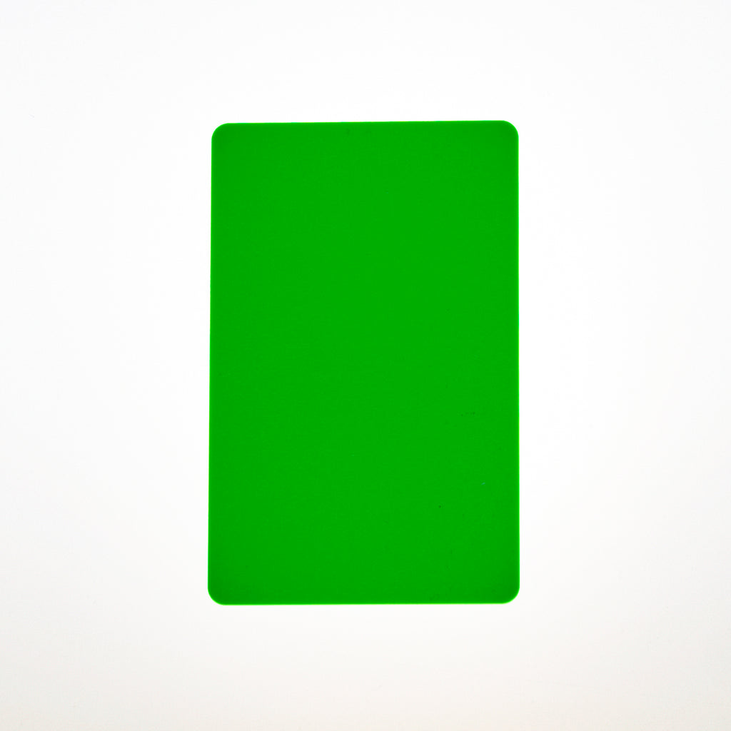 CR80/30 Flourescent Green PVC Cards