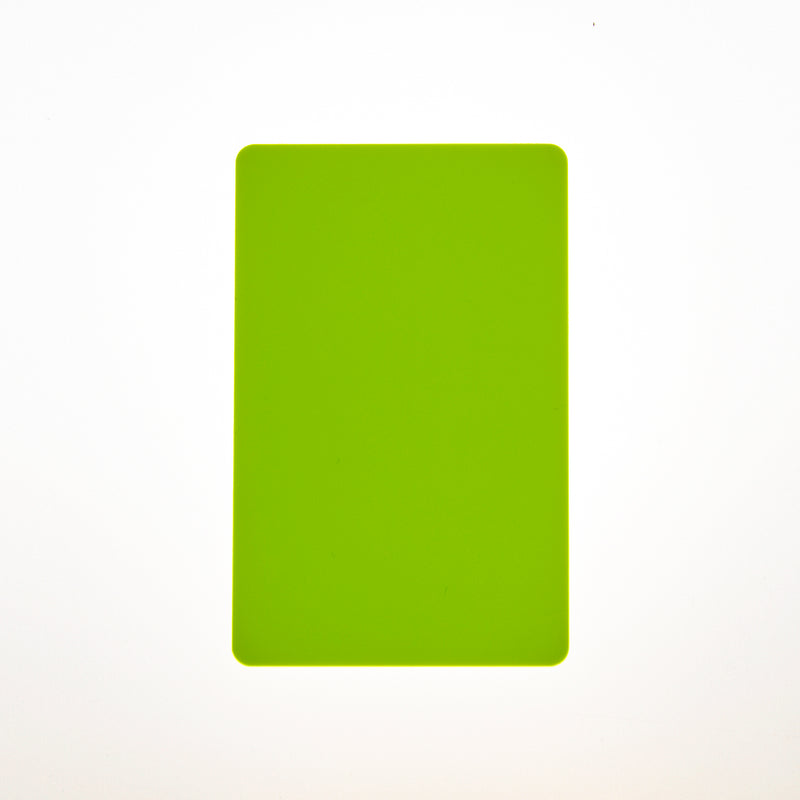 CR80/30 Yellow Flourescent-Colour PVC Cards