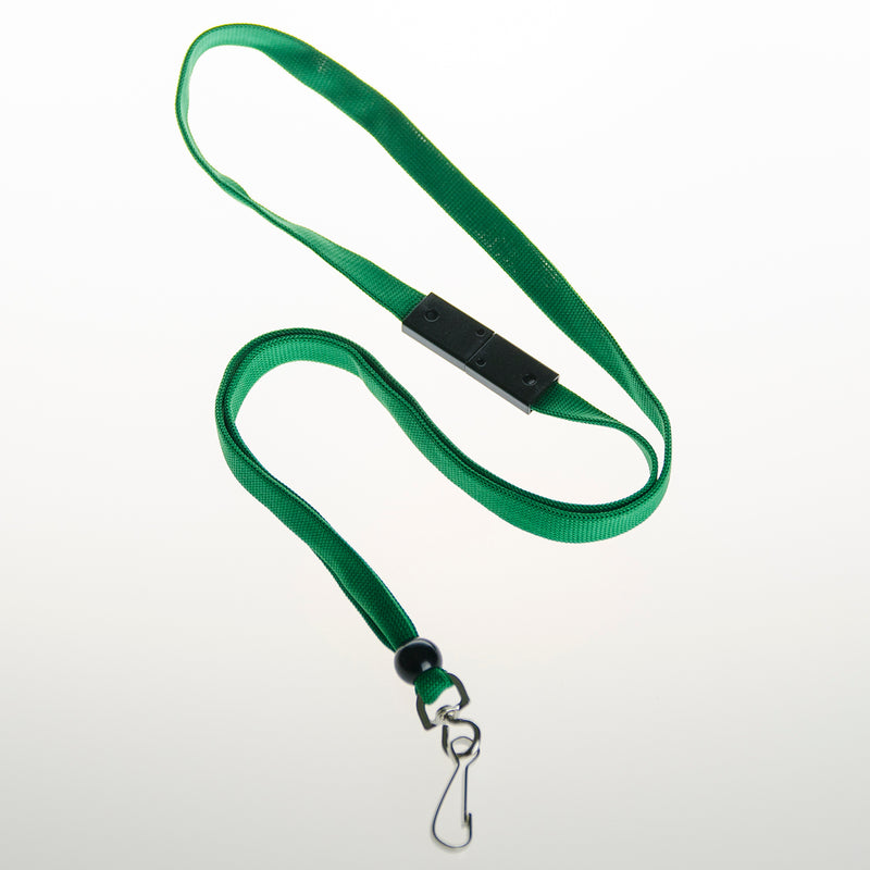 BAL-IV-SH 10mm Lanyard GREEN w/ swivel clip