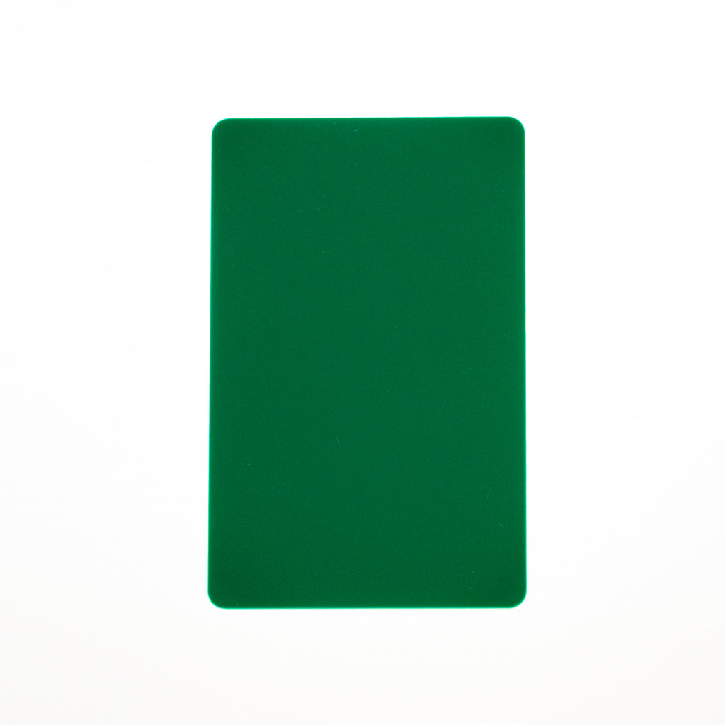 CR80/30 Green-Colour PVC Cards.