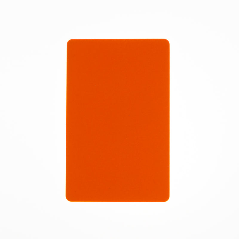 CR80/30 Orange-Colour PVC Cards