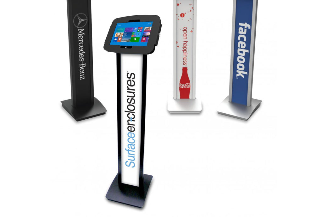Visitor Management, WhosOnLocation, Kiosk, Floor Stand, Surface Kiosk, Surface Floor Stand, Kiosk for Surface