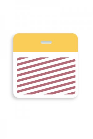 TEMPBADGE-5902 Plain Yellow Clip On Back Part Expiring Backings
